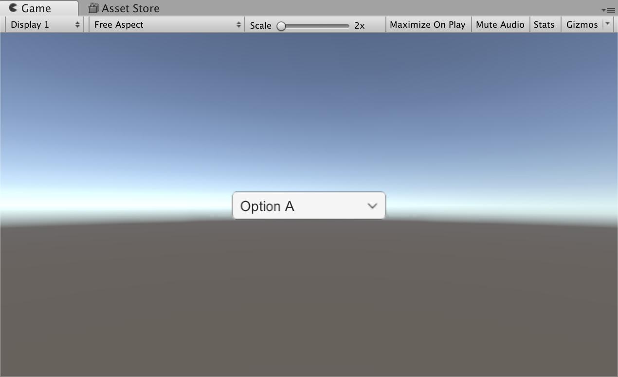 Unity uGUI】ドロップダウン(Dropdown)を使用してオプションを選択する